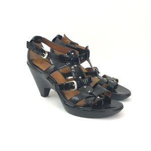 Sofft  9.5 Patent Leather Strappy Heeled Sandal